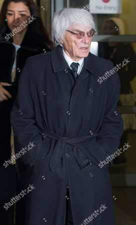 Bernie Ecclestone And His Wife Fabiana Flosi Leave The Family Court Holborn London. Petra Ecclestone Is In A Divorce And Custody Row With Her Ex Husband James Stunt 2018/01/11.