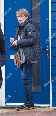 Jenny Bone The Wife Of Mp Peter Bone Arriving Home In Wellingborough Northamptonshire Today (12/01/18).