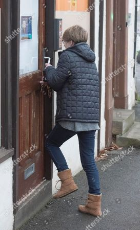 Jenny Bone The Wife Of Mp Peter Bone Going To The Constituency Office In Wellingborough Northamptonshire Today (12/01/18).