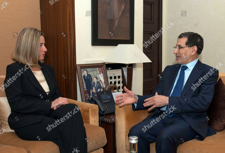 Morocco's Prime Minister Saad Eddine el-Othmani (R) meets with Federica Mogherini (L), Vice-President of the European Commission and High Representative of the European Union for Foreign Affairs and Security Policy, in Rabat, Morocco, 17 January 2019. Mogherini is in Rabat for discussions on the EU-Morocco fishery and agriculture agreements.