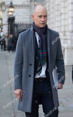 Labour MP Stephen Kinnock outside the Cabinet Office in Westminster London, Britain, 17 January 2019. British Prime Minister Theresa May is holding talks with cabinet and party leaders over Brexit.