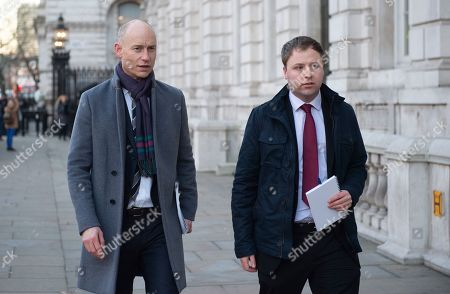 Labour MP Stephen Kinnock (L) speaks to journalists as he arrives at the Cabinet Office in Westminster London, Britain, 17 January 2019. British Prime Minister Theresa May is holding talks with cabinet and party leaders over Brexit.