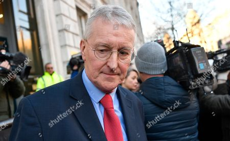 Labour MP Hillary Benn leaves the Cabinet Office in Westminster London, Britain, 17 January 2019. British Prime Minister Theresa May is holding talks with cabinet and party leaders over Brexit.