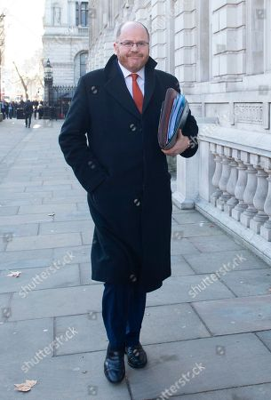 Conservative MP George Freeman arrives to  the Cabinet Office in Westminster London, Britain, 17 January 2019. British Prime Minister Theresa May is holding talks with cabinet and party leaders over Brexit.