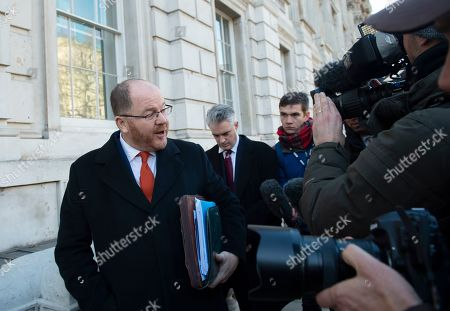Conservative MP George Freeman  speaks to journalists as he leaves the Cabinet Office in Westminster London, Britain, 17 January 2019. British Prime Minister Theresa May is holding talks with cabinet and party leaders over Brexit.