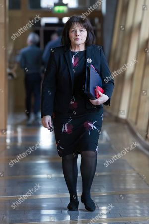 Jeane Freeman, Cabinet Secretary for Health and Sport, makes her way to the Debating Chamber