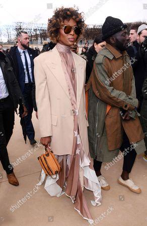 Louis Vuitton Show Arrivals Paris Fashion Week Stock Photos