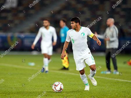 Yahya Al-Shehri of Saudi Arabia during Saudi Arabia v Qatar at the Zayed Sports City Stadium in Abu Dhabi, United Arab Emirates, AFC Asian Cup, Asian Football championship