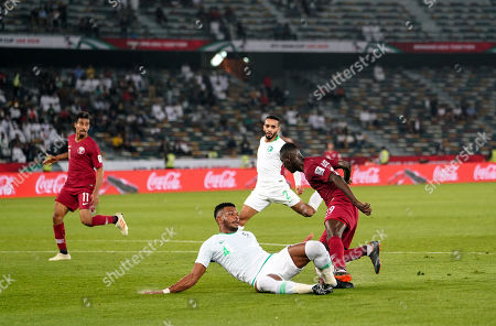 Editorial picture of AFC Asian Cup Football Saudi Arabia v Qatar, Abu Dhabi, USA - 17 Jan 2019