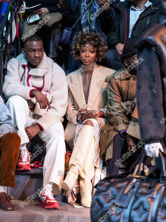 Skepta, Naomi Campbell, Jenke-Ahmed Tailly in the front row