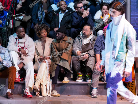 Editorial photo of Louis Vuitton show, Front Row, Fall Winter 2019, Paris Fashion Week Men's, France - 17 Jan 2019
