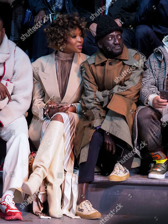 Naomi Campbell and Jenke-Ahmed Tailly in the front row
