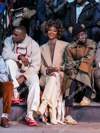 Editorial image of Louis Vuitton show, Front Row, Fall Winter 2019, Paris Fashion Week Men's, France - 17 Jan 2019