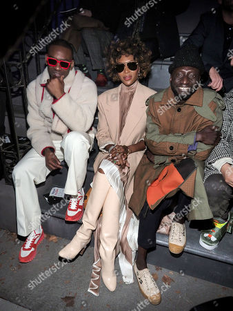 Editorial picture of Louis Vuitton show, Front Row, Fall Winter 2019, Paris Fashion Week Men's, France - 17 Jan 2019
