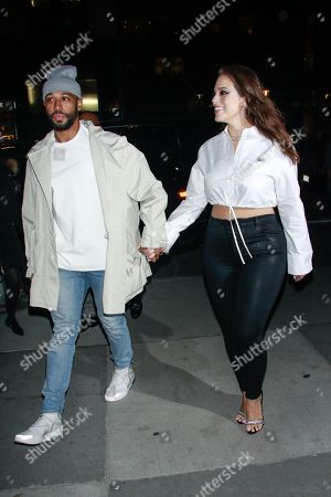 Editorial picture of Ashley Graham and Justin Ervin out and about, New York, USA - 17 Jan 2019