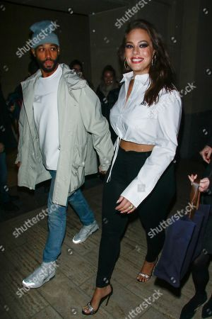 Editorial image of Ashley Graham and Justin Ervin out and about, New York, USA - 17 Jan 2019
