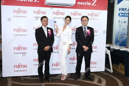 Ruby Lin promotes for Fujitsu air conditioner in Taipei, Taiwan, China on 17th January, 2019