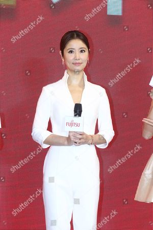 Stock Image of Ruby Lin promotes for Fujitsu air conditioner in Taipei, Taiwan, China on 17th January, 2019