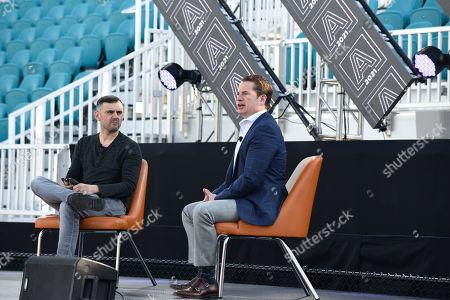 Gary Vaynerchuk (Gary Vee), left, hosts and Matt Higgins guest speaker