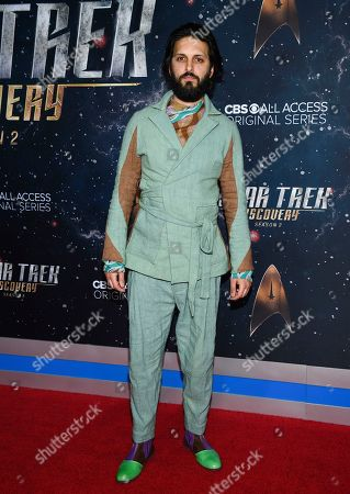 """Shazad Latif attends the """"Star Trek: Discovery"""" season two premiere at the Conrad New York, in New York"""