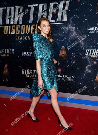"""Emily Coutts attends the """"Star Trek: Discovery"""" season two premiere at the Conrad New York, in New York"""