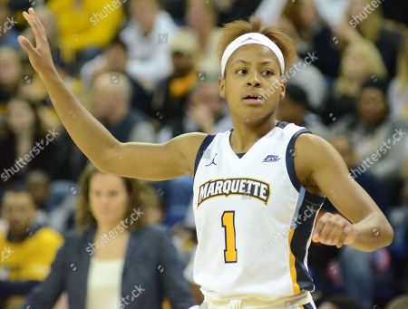 Marquette's Danielle King waits for an inbound pass during a NCAA women's college basketball game between the Notre Dame Fighting Irish and the Marquette Golden Eagles at the Al McGuire Center in Milwaukee, Wisconsin
