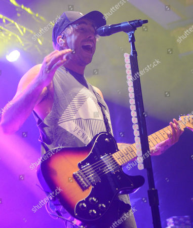 Lead singer Alex Gaskarth of All Time Low performs live at the Eagles Ballroom in Milwaukee, Wisconsin