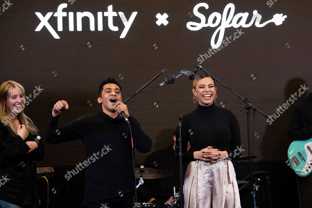 """Multi-platinum selling artist Dinah Jane is all smiles at Xfinity's """"Future of Awesome Tour"""". The tour is designed to connect emerging local artists, fans and the music they love in collaboration with Sofar Sounds and Dinah Jane as the curator, in Washington"""