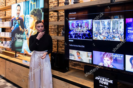 """Multi-platinum selling artist Dinah Jane explores the Solar Sounds destination on Xfinity X1 at Xfinity's """"Future of Awesome Tour"""", in Washington"""