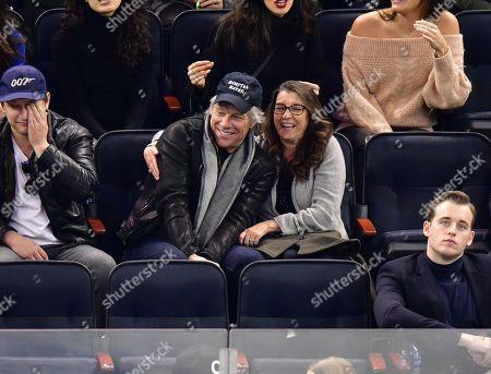 Stock Photo of Jesse Bon Jovi, Jon Bon Jovi and Dorothea Hurley