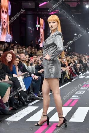 Bonnie Strange on the catwalk