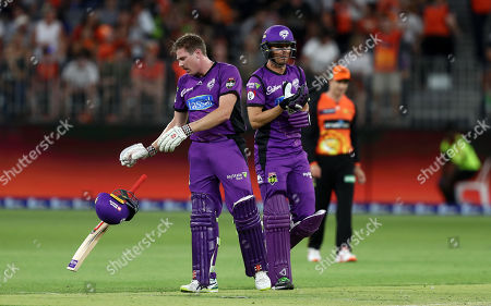 James Faulkner of the Hurricanes after hitting the winning runs