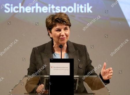 Editorial image of Defense Switzerland Germany, Vienna, Austria - 18 Jan 2019