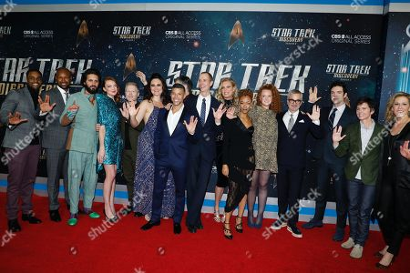 Ronnie Rowe Jr., Kenric Green, Shazad Latif, Emily Coutts, Anthony Rapp, Mary Chieffo, Wilson Cruz,, Anson Mount, Doug Jones, Rebecca Romijn, Sonequa Martin-Green, Mary Wiseman, Alex Kurtzman, Ethan Peck, Tig Notaro and Heather Kadin