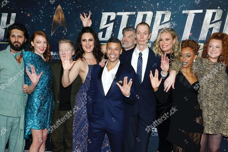Shazad Latif, Emily Coutts, Anthony Rapp, Mary Chieffo, Wilson Cruz,, Anson Mount, Doug Jones, Rebecca Romijn, Sonequa Martin-Green, Mary Wiseman