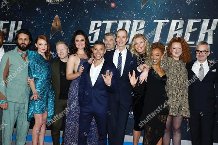 Shazad Latif, Emily Coutts, Anthony Rapp, Mary Chieffo, Wilson Cruz,, Anson Mount, Doug Jones, Rebecca Romijn, Sonequa Martin-Green, Mary Wiseman, Alex Kurtzman
