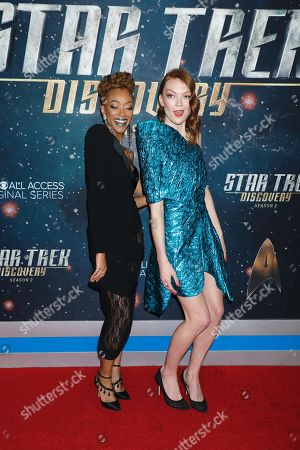Sonequa Martin-Green and Emily Coutts