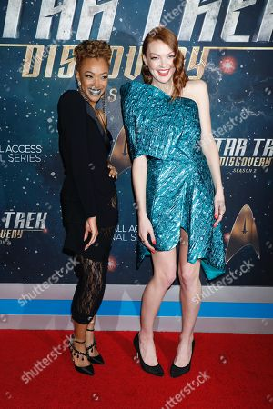 Stock Picture of Sonequa Martin-Green and Emily Coutts