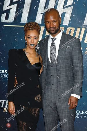 Stock Photo of Sonequa Martin-Green and Kenric Green