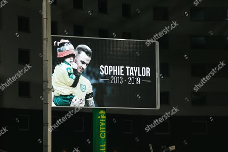 A tribute is paid to young mascot Sophie Taylor who recently lost her battle against cancer