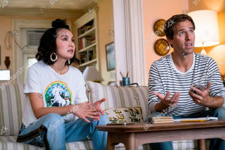 Jae Suh Park as Marianne and Nat Faxon as Nick Miller