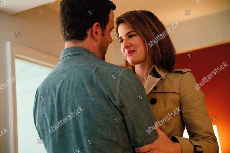Stock Image of Zack Robidas as Charlie and Cobie Smulders as Lisa Turner