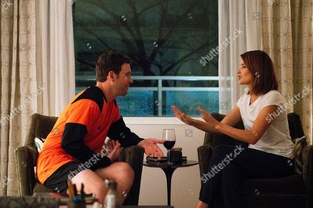 Stock Picture of Zack Robidas as Charlie and Cobie Smulders as Lisa Turner