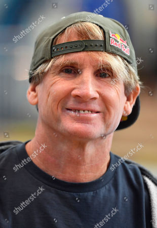 Stock Picture of Surf legend Robby Naish is pictured at the International Boat Show, known as Boot, in Duesseldorf, Germany, . The world's biggest fair for watersports shows for one week the latest trends from luxury yachts to surfing at the Duesseldorf fair