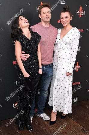 Alessandra Mastronardi, Bradley James and Synnove Karlsen