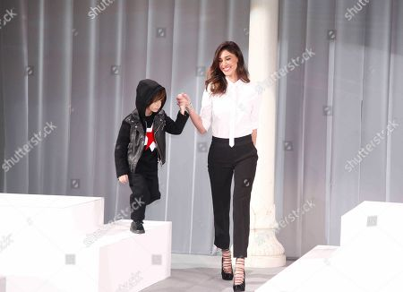 Belen Rodriguez and her son Santiago
