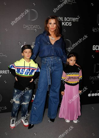 Claudia Galanti and her sons Tal and Liam Mimran
