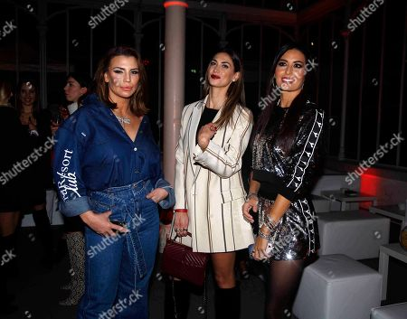 Stock Image of Claudia Galanti, Melissa Satta and Elisabetta Gregoraci