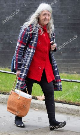 Dame Winifred Mary Beard, Classicist and Scholar, leaves Number 10 Downing Street.