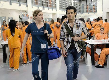 Emily VanCamp as Nicolette Nevin and Miles Gaston Villanueva as Dr. Alec Shaw